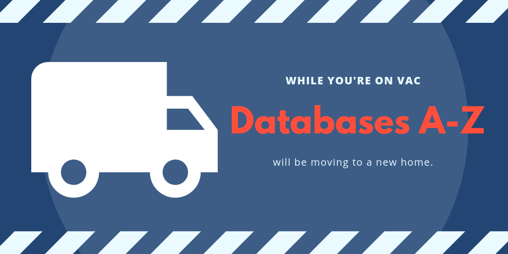 Databases A-Z is moving poster