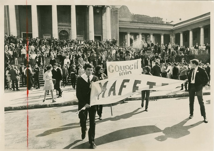 1968 Mafeje protest, Jameson Hall